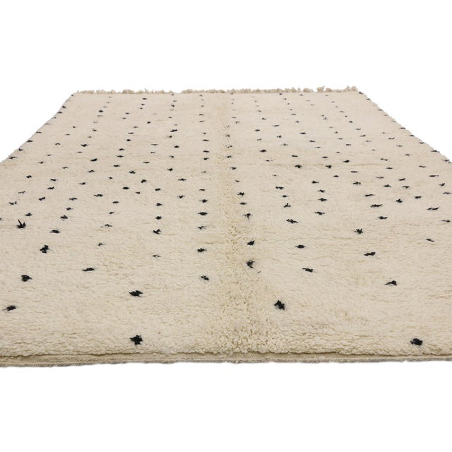 Contemporary Berber Moroccan Rug Inspired by Yayoi Kusama Polka Dots - 07'00 X 09'06 For Sale - Image 3 of 9
