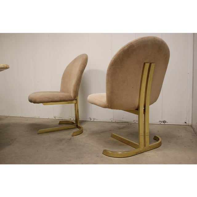 Space Age Milo Baughman Style Dining Room Table & Chairs For Sale - Image 9 of 13