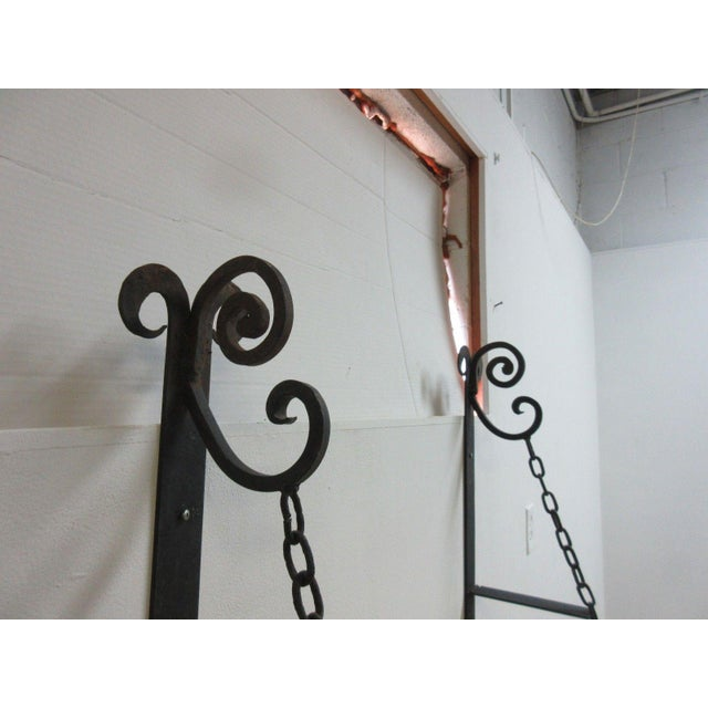 Vintage Gothic Wrought Iron Curio Display Shelf Brackets - a Pair For Sale - Image 9 of 11