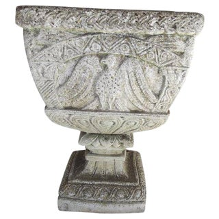 Early 20th Century French Cast Stone Planter For Sale