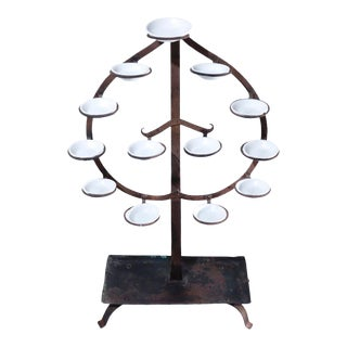 Antique Japanese Tomyodai Temple Light Stand For Sale