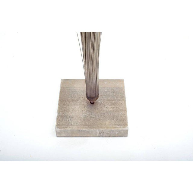 """1960s Harry Bertoia Early Stainless Steel """"spray"""" Sculpture, Usa, 1960s For Sale - Image 5 of 6"""