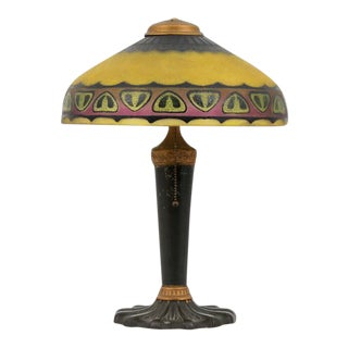 """1920s Vintage Pittsburgh """"Chipped Ice"""" Lamp For Sale"""