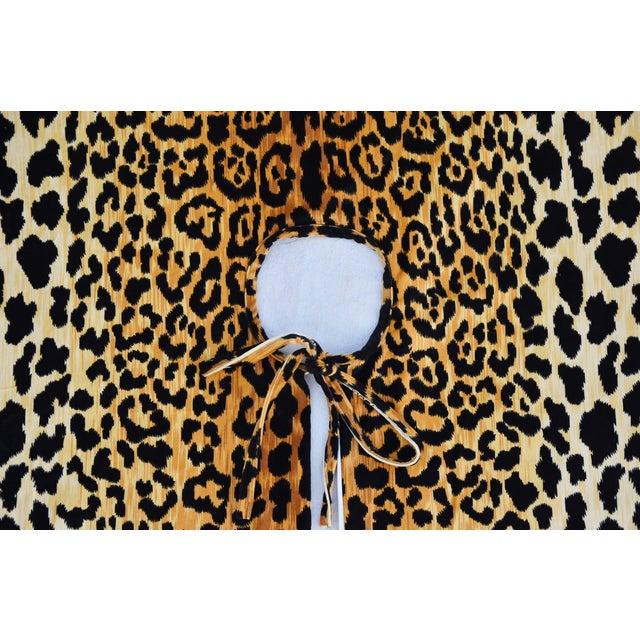 """X-Large 55"""" Custom-Tailored Leopard Velvet Christmas Tree Skirt For Sale In Los Angeles - Image 6 of 10"""