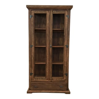 Reclaimed Peroba Rosa Wood & Glass Vitrine Display Cabinet