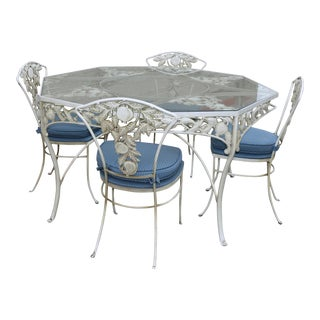 Metal Fruit Accent Patio Set - Set of 5 For Sale