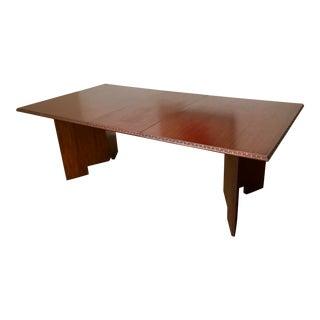 Frank Lloyd Wright 1955 'Taliesin' Mahogany Dining Table For Sale