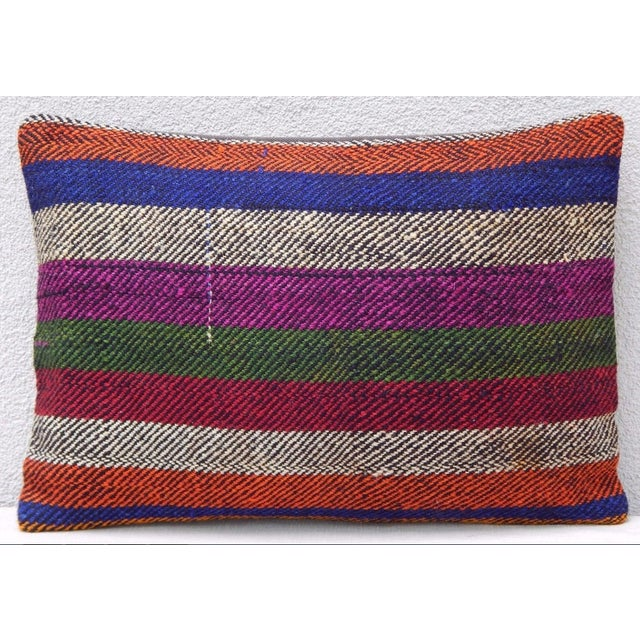 Turkish Kilim Lumbar Pillow For Sale In Dallas - Image 6 of 6