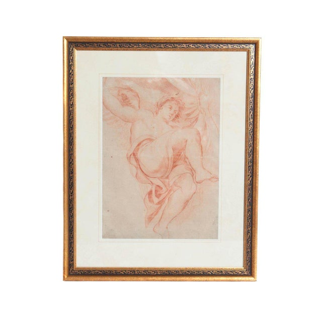 18th Century Continental Red Chalk Drawing, Figure Study For Sale - Image 11 of 11
