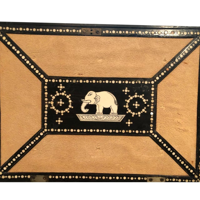 19th Century Anglo Indian Porcupine Quill Decorated Work Box For Sale In Tampa - Image 6 of 8
