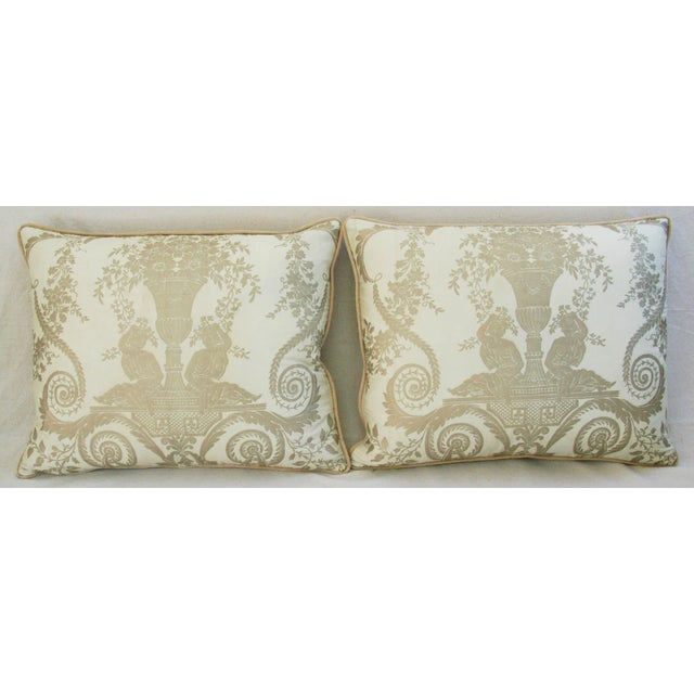 Custom Italian Fortuny Lamballe Pillows - Pair - Image 3 of 11