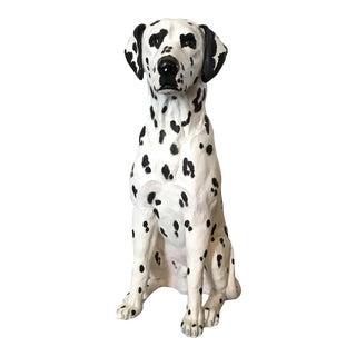 1970s Vintage Dalmatian Dog Sculpture For Sale