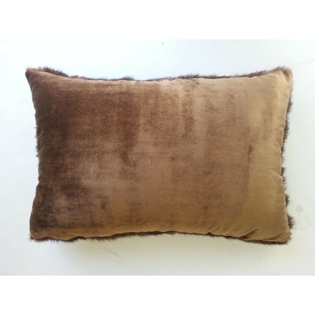Brown Mink Lumbar Pillow - Image 2 of 2