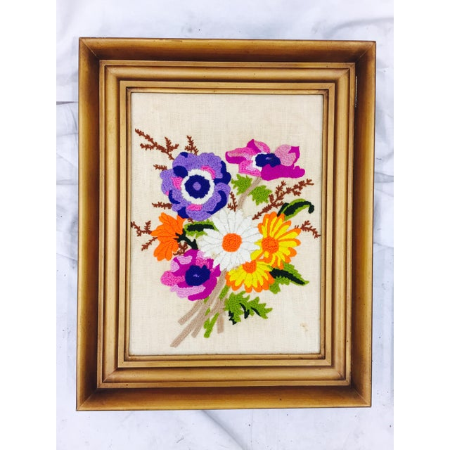 Vintage Floral Needlepoint Panels- A Pair - Image 5 of 7
