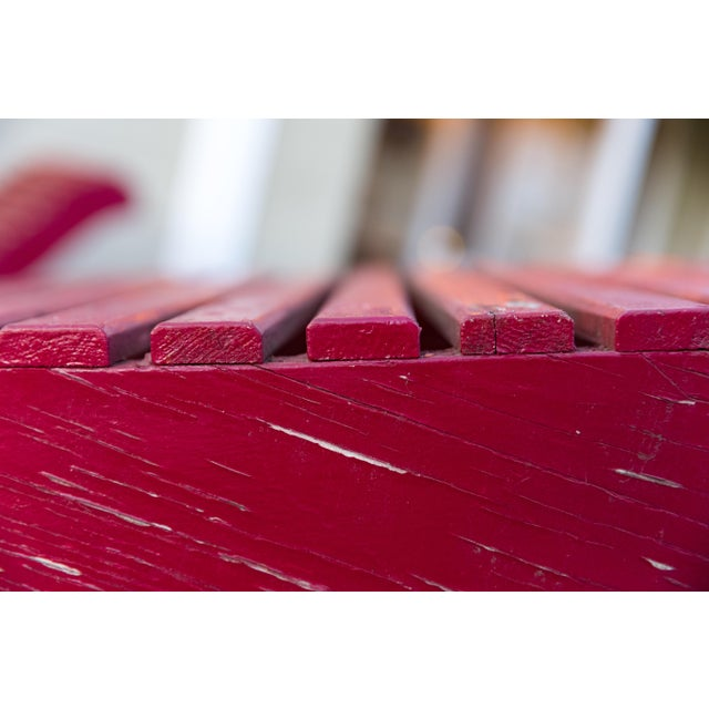 Red Klaus Grabe C5 Plywood Chaise Lounges - A Pair For Sale - Image 8 of 13