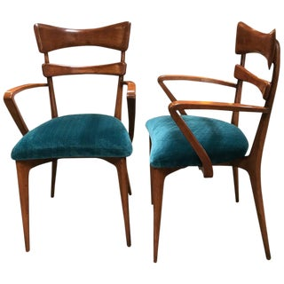 Italian Attributed to Ico Parisi Armchairs, 1950s - a Pair For Sale