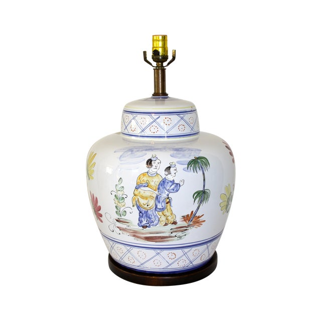 Frederick Cooper Hand-Painted Italian Lamp - Image 1 of 8