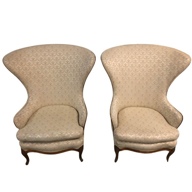 1920s 1920s Butterfly Huge Wingback Chairs - a Pair For Sale - Image 5 of 6