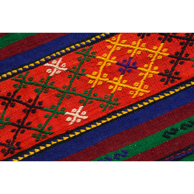 Turkish Hand-Woven Kilim Rug - 5′10″ X 10′11″ For Sale - Image 10 of 10
