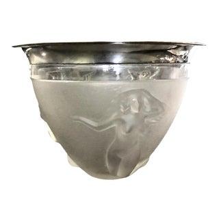 Art Deco Silver Rimmed Glass Bowl