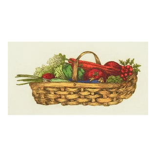 Garden Basket W/Veggies Etching For Sale