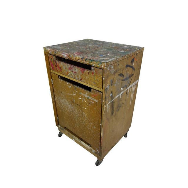 Paint Splattered Cabinet From an Artist Studio For Sale - Image 10 of 10