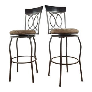 Modern Industrial Bar Stools - a Pair For Sale