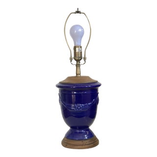 Vintage used french country table lamps chairish pierre deux royal blue lamp mozeypictures Images