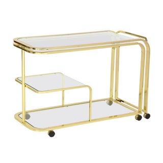 DIA Brass Extendable Bar Cart , ca. 1979