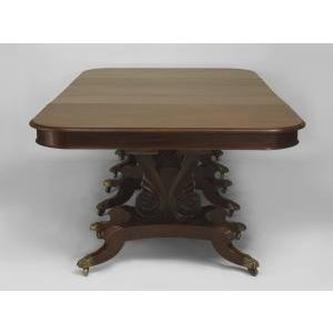 Brown American Empire style (late 19th Cent) mahogany dining table For Sale - Image 8 of 8