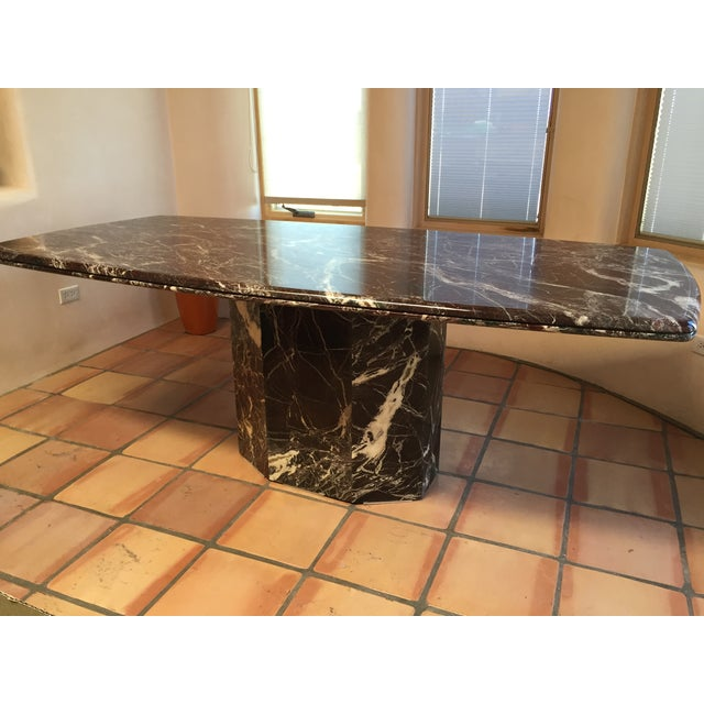 Italian Marble Dining Table - Image 2 of 7