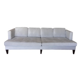 "Room & Board Gray Velvet ""Hutton"" Sofa For Sale"