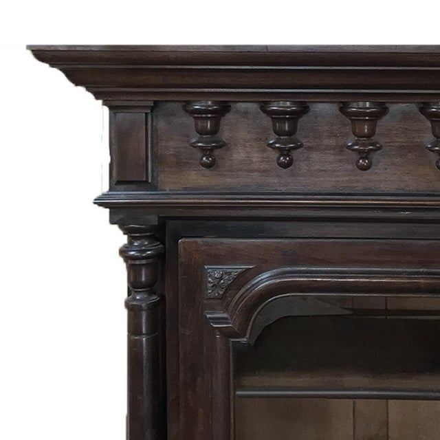 Mid 19th Century 19th Century Neoclassical French Walnut Display Armoire For Sale - Image 5 of 10