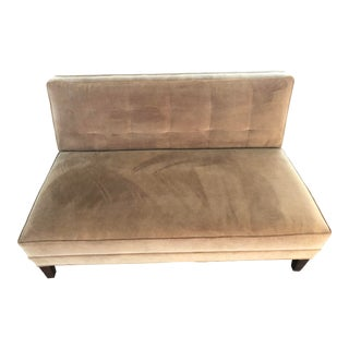 Contemporary Mitchell Gold and Bob Williams Brown Loveseat For Sale