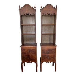 Antique Chippendale Style Cabinets - a Pair For Sale