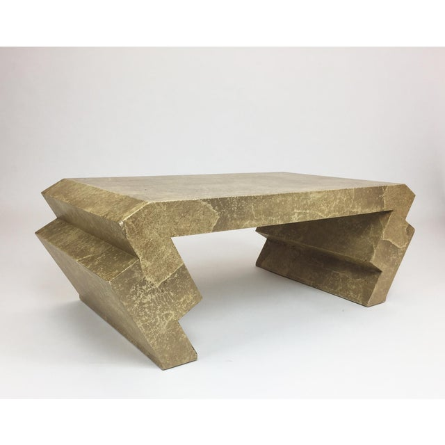 Vintage Goatskin Coffee Table in the Style of Karl Springer - Image 4 of 9