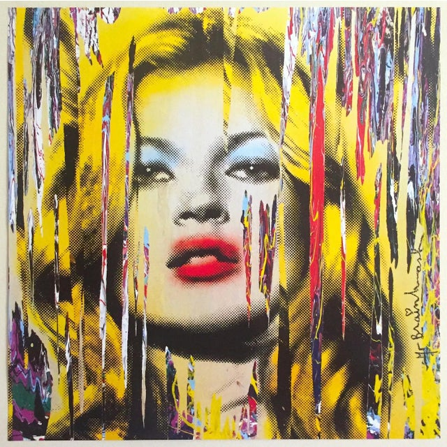 """Mr. Brainwash """" Kate Moss """" Rare Authentic Lithograph Print Pop Art Poster For Sale - Image 12 of 13"""