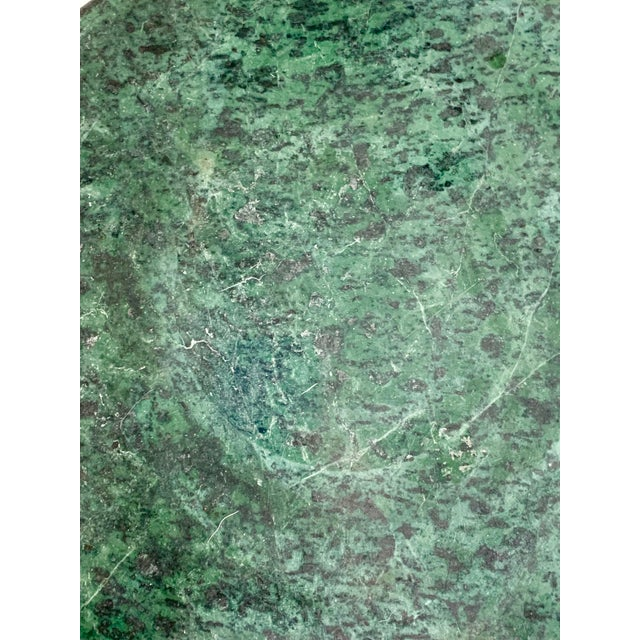 Mid 20th Century Vintage Green Marble Side Table For Sale - Image 5 of 10