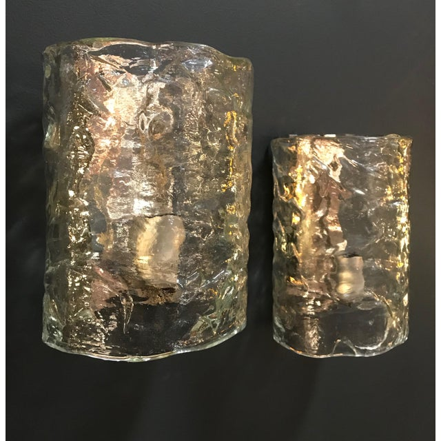 Italian 1960s Italian Cylindrical Wall Lights in Frosted Murano Glass-a Pair For Sale - Image 3 of 10