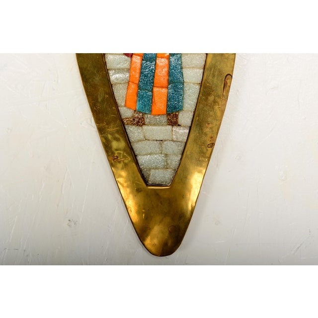1970s Midcentury Salvador Teran Mosaic Tray / Wall Art, 1950s For Sale - Image 5 of 7