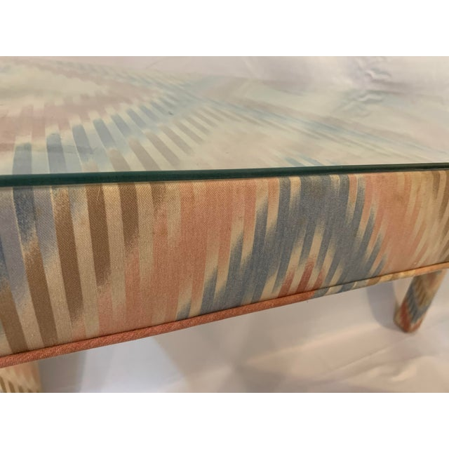 Vintage Upholstered Parsons Console Table For Sale - Image 11 of 13