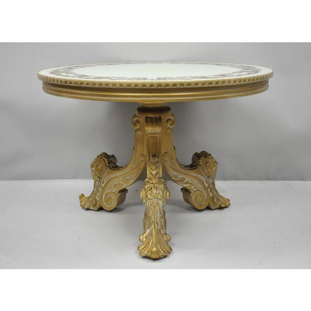 Vintage Mid-Century French Rococo Style Coffee Table For Sale - Image 11 of 12