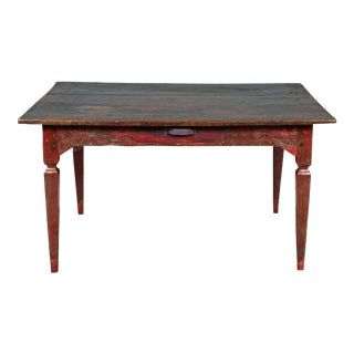 Vintage Javanese Country Teak Dining Table For Sale