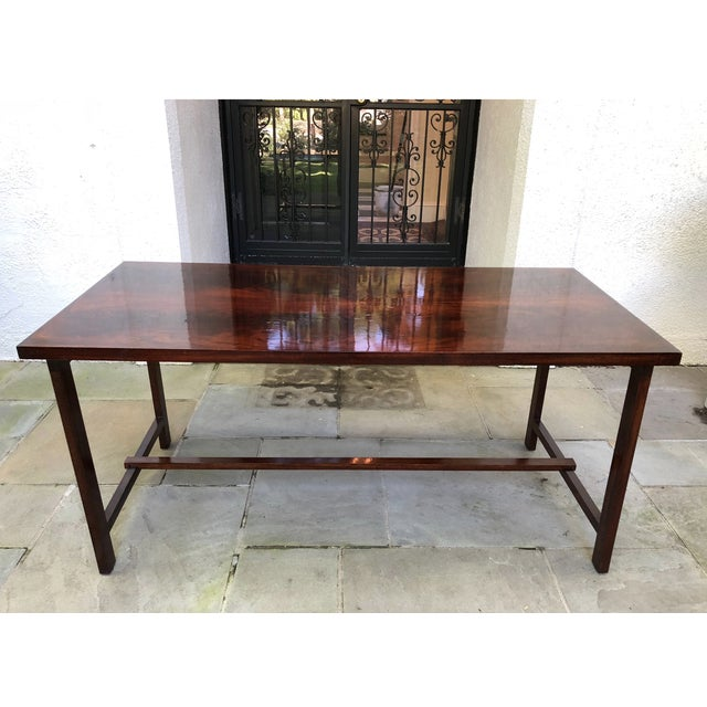 Stunning custom constructed, flame mahogany dessert or serving table. Works as a bar as well. Perfect for parties or large...