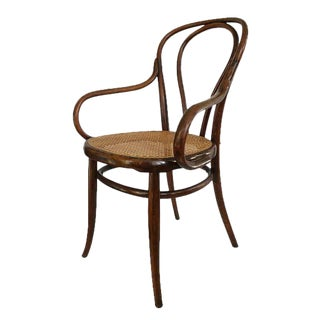 Antique Jacob & Josef Kohn Bentwood & Cane Arm Chair