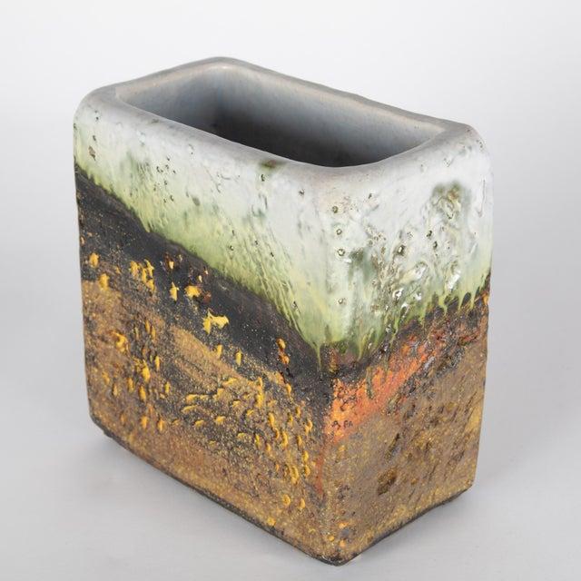 Italian 1960s Rectangular Vase by Marcello Fantoni For Sale - Image 3 of 13