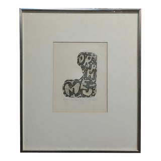 Claes Oldenberg -Abstract Composition-1962 Signed and Numbered-Edition of 60 For Sale
