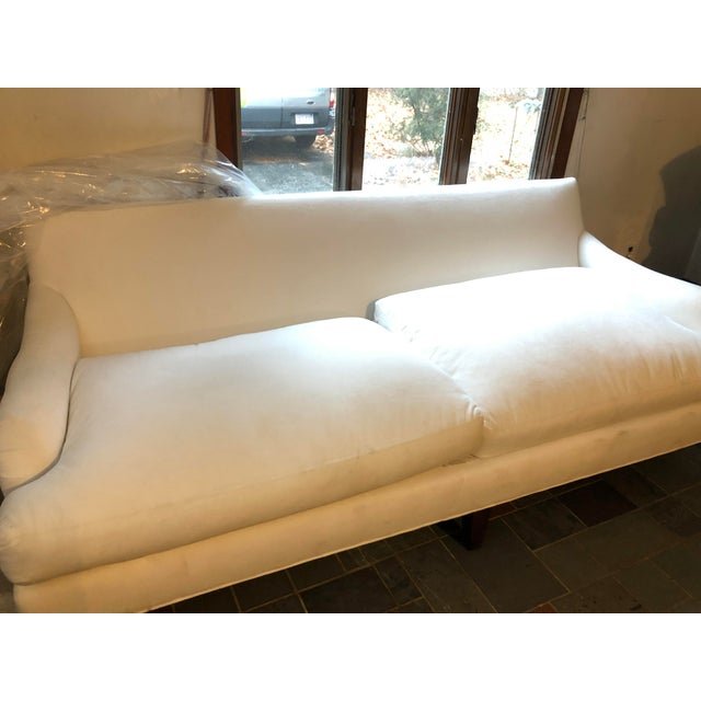 This was used briefly for a photo shoot but we became nervous due to how white it is. It is a gorgeous piece from Crate...