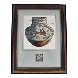 "Michaael McCullough ""Acoma 1890"" Watercolor Painting, Framed For Sale"