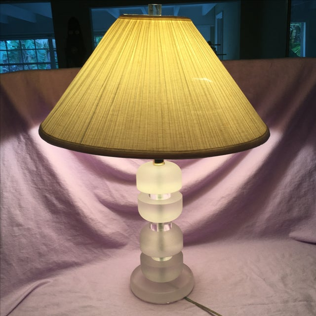 Mid-Century Stacked Lucite Lamp - Image 3 of 5